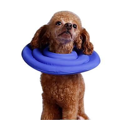 كلب ياقة المحمول متنفس الأمان قابل للتعديل سادة قماش قطيفة نايلون وردي أزرق