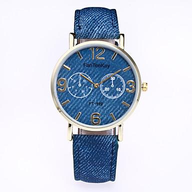 Dames Modieus horloge Kwarts Leer Band Vrijetijdsschoenen Zwart Wit Blauw Rood Bruin Groen Geel