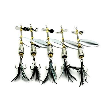5 buc Momeală Dură Buzzbait & Momeli spinnerbait Linguri Momeală metalică g/Uncie mm inchPescuit mare Aruncare Momeală Filare Pescuit la