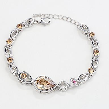 Dames Armbanden met ketting en sluiting Sieraden Natuur Modieus Vintage Met de hand gemaakt Kristal Legering Ovalen vorm Sieraden Voor