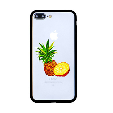 Hülle Für Apple Muster Rückseitenabdeckung Cartoon Design Frucht Hart Acryl für iPhone 7 plus iPhone 7 iPhone 6s Plus iPhone 6 Plus