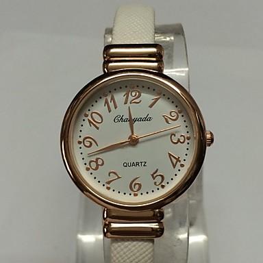 Dames Modieus horloge Polshorloge Kwarts Legering PU Band Glitter Bangle armband Vrijetijdsschoenen Zwart Wit Bruin Roze Paars