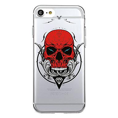 Maska Pentru Apple Model Carcasă Spate Desene Animate Cranii Moale TPU pentru iPhone 7 Plus iPhone 7 iPhone 6s Plus iPhone 6 Plus iPhone