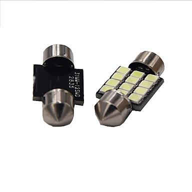 1 واط الأبيض dc12v 39 ملليمتر اكليل 12smd 2835 قبة ضوء الخفيف ضوء رخصة لوحة ضوء 2 قطع