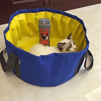 Hond bedden Huisdieren Matten & Pads Effen waterdicht draagbaar Vouwbaar Wasbaar Grijs Blauw Voor huisdieren