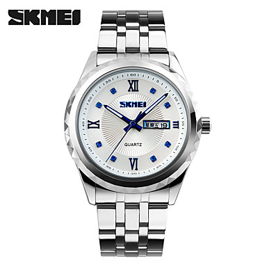Herrn Quartz Armbanduhr Smartwatch Sportuhr Chinesisch Kalender Chronograph Wasserdicht Großes Ziffernblatt Metall Band Charme Kreativ
