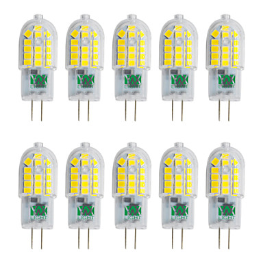 YWXLIGHT® 10 Stück 3W 250-300 lm G4 LED Doppel-Pin Leuchten T 30 Leds SMD 2835 Warmes Weiß Kühles Weiß Natürliches Weiß 220V-240V