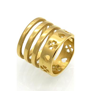 للرجال للمرأة خواتم حزام خواتم بيان خاتم مجوهرات مخصص هندسي تصميم دائري تصميم فريد قديم طبقة مزدوجة موضة Rock euramerican في الكريسمس
