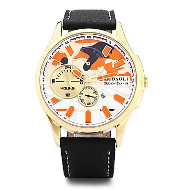 Herrn Modeuhr Armbanduhr Chinesisch Quartz Kalender Großes Ziffernblatt Edelstahl Legierung Band Cool Schwarz