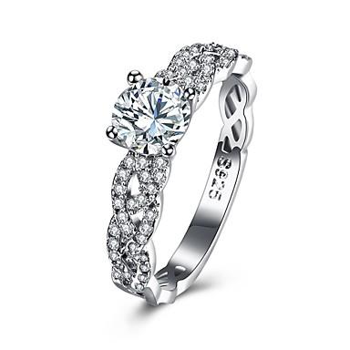 Damen Ring Kubikzirkonia Personalisiert Luxus Geometrisch Kreisförmiges Einzigartiges Design Klassisch Retro Strass Böhmische Grundlegend