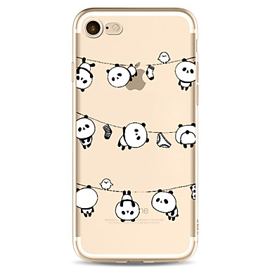 Für Apfel iphone 7 7 plus 6s 6 plus Fallabdeckung Pandamuster gemaltes hohes penetration tpu materielles weiches Falltelefonkasten