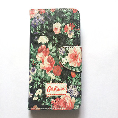 Voor Apple iPhone 6s iPhone 6 hoesje Cover Card Holder Portemonnee Met Stand Flip Pattern Full Body Hoesje Flower Hard Pu Leather