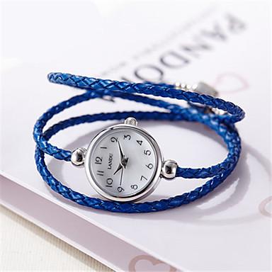 Dames Modieus horloge Kwarts Waterbestendig Nylon Band Zwart Blauw Bruin