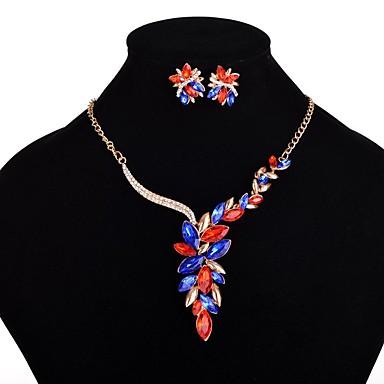 Pentru femei Seturi de bijuterii Acrilic Aliaj Floare Lux Euramerican Modă Petrecere 1 Colier 1 Pereche de Cercei Costum de bijuterii