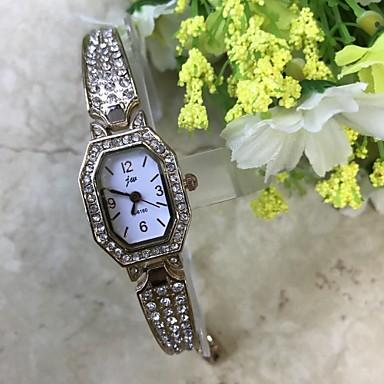 Pentru femei Ceas Brățară Simulat Diamant Ceas Chineză Quartz / imitație de diamant Aliaj Bandă Casual Roz auriu