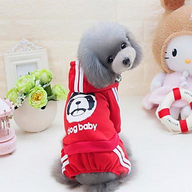 Câine Hanorca Hanorace cu Glugă Salopete Îmbrăcăminte Câini Draguț Casul/Zilnic Modă Animal Gri Galben Rosu Albastru Roz Costume Pentru