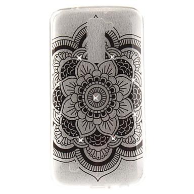 Hülle Für LG Strass IMD Transparent Rückseitenabdeckung Mandala Weich TPU für LG K10 LG K8 LG K7