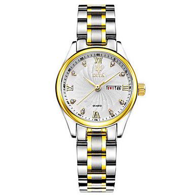 Dames Modieus horloge Kwarts Kalender Waterbestendig Legering Band Zilver