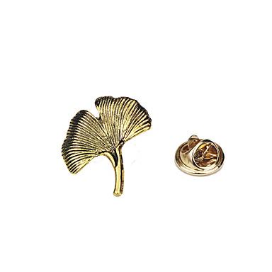 للرجال للمرأة دبابيس تصميم الحيوانات قديم موضة euramerican في سبيكة Leaf Shape مجوهرات من أجل لباس يومي فضفاض كاجوال/يومي