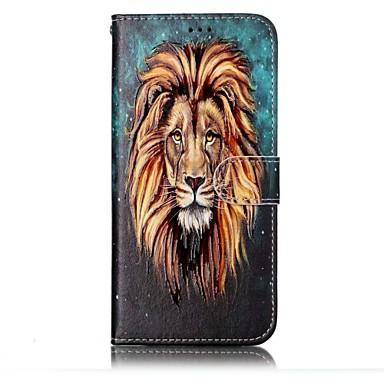غطاء من أجل Samsung Galaxy S8 Plus S8 محفظة حامل البطاقات مع حامل قلب مطرز نموذج مغناطيس كامل الجسم حيوان قاسي جلد اصطناعي إلى S8 S8 Plus