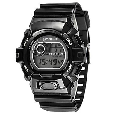 Heren Modieus horloge Digitaal horloge Digitaal Silicone Band Zwart