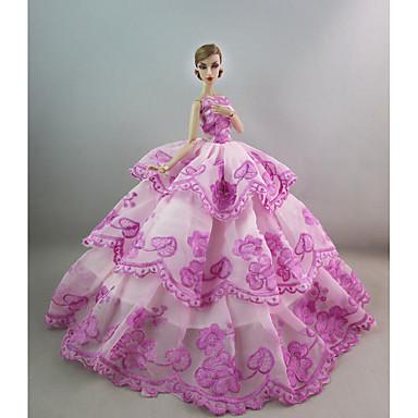 Petrecere/Seară Rochii Pentru Barbie Doll Poliester Rochie Pentru Fata lui păpușă de jucărie