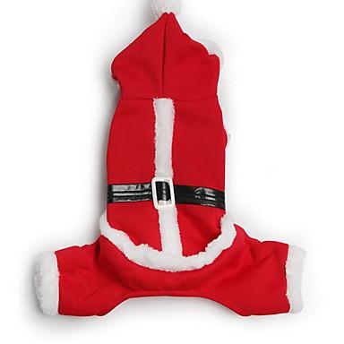 كلب المعاطف بنطلونات ملابس الكلاب كارتون قطن كوستيوم للحيوانات الأليفة للرجال للمرأة عيد الميلاد