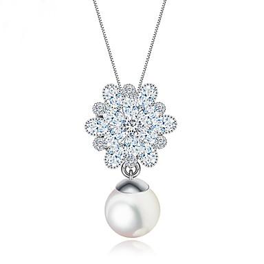 Pentru femei Coliere cu Pandativ Bijuterii Bijuterii Perle Zirconiu Aliaj Design Unic La modă Euramerican Bijuterii PentruNuntă Petrecere