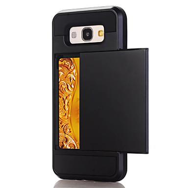 Hülle Für Samsung Galaxy A5(2017) A3(2017) Kreditkartenfächer Rückseite Volltonfarbe Hart PC für A3 (2017) A5 (2017) A7 (2017) A7(2016)