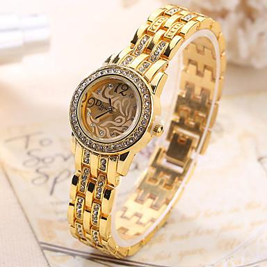 Dames Unieke creatieve horloge Polshorloge Modieus horloge Vrijetijdshorloge Kwarts Hot Sale Legering Band Amulet Luxe Creatief Informeel