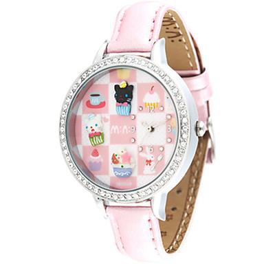 Dames Modieus horloge Kwarts PU Band Roze