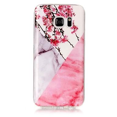 voordelige Galaxy S3 Hoesjes / covers-hoesje Voor Samsung Galaxy S8 Plus / S8 / S7 edge IMD Achterkant Marmer Zacht TPU
