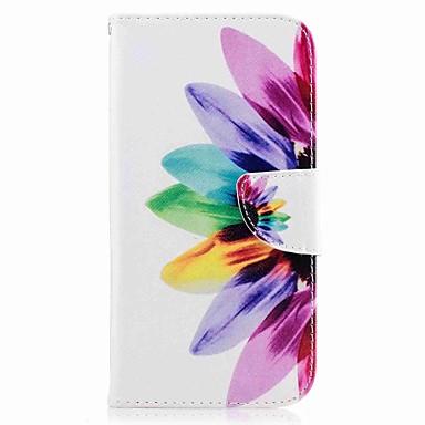 hoesje Voor Samsung Galaxy A7(2017) A5(2017) Portemonnee Kaarthouder met standaard Flip Patroon Volledige behuizing Bloem Hard PU-leer