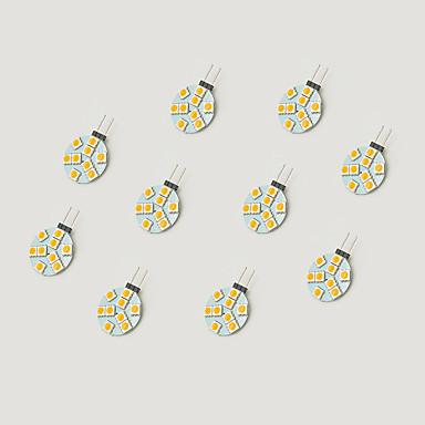 1.5W أضواء LED Bi Pin 9 مصلحة الارصاد الجوية 5050 148 lm أبيض دافئ أبيض V 10 قطع