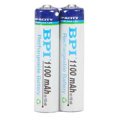 Bpi aaa 1.2v 1100mah wiederaufladbare batterie