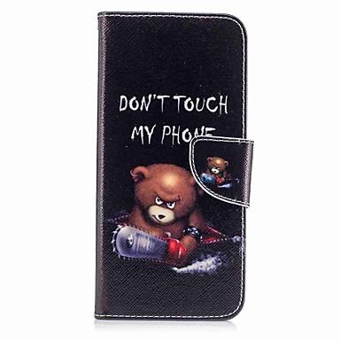 hoesje Voor Samsung Galaxy S8 Plus S8 Kaarthouder Portemonnee met standaard Flip Patroon Volledige behuizing dier Hard PU-leer voor S8 S8