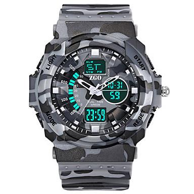 Heren Militair horloge Digitaal Rubber Band Grijs Geel