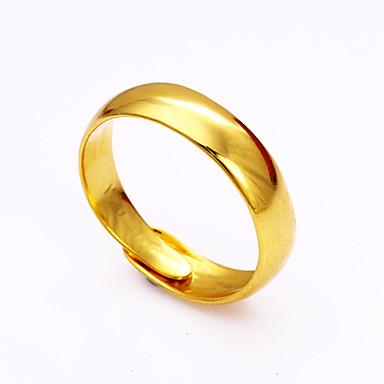 Bărbați Pentru femei manşetă Ring Auriu Articole de ceramică Circle Shape De Bază Modă Ajustabile Ocazie specială Aniversare Zi de