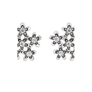 Damen Ohrstecker Tropfen-Ohrringe Kreolen Imitation Diamant Basis Einzigartiges Design Logo Stil Strass Geometrisch Freundschaft