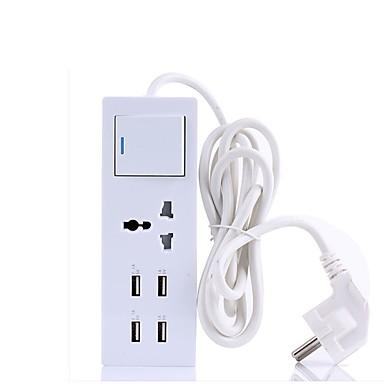 USB-Ladegerät 4 Ports Schreibtisch Ladestation Mit USB-Anschluss USA GB EU Ladeadapter