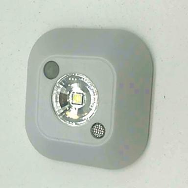 1 buc Lumină de noapte Alb Rece Baterie Senzor