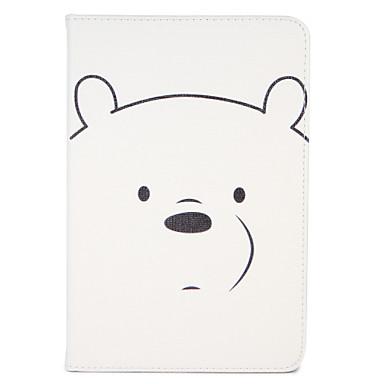 Voor Hoesje cover met standaard Flip Patroon Auto Slapen/Ontwaken Volledige behuizing hoesje Cartoon Hard PU-leer voor AppleiPad Mini 4