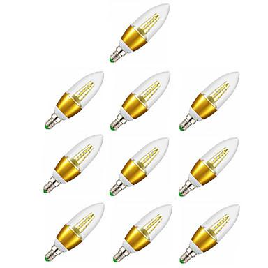 6W 600-650 lm E14 أضواء شموغ LED C35 35 الأضواء SMD 2835 ديكور أبيض دافئ أس 220-240V