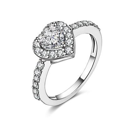 Damen Ring Kubikzirkonia Personalisiert Geometrisch Kreisförmiges Einzigartiges Design Retro Böhmische Grundlegend Natur Kreis
