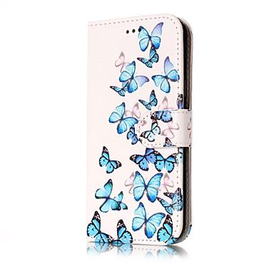 Maska Pentru Samsung Galaxy J7 (2016) J5 (2016) Portofel Titluar Card Cu Stand Întoarce Corp Plin Fluture Greu PU Piele pentru J7 (2016)