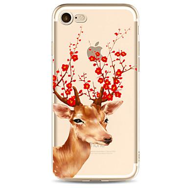 Für Apfel iphone 7 7 plus 6s 6 plus Fallabdeckung Hirschmuster gemaltes hohes penetration tpu Material weicher Falltelefonkasten