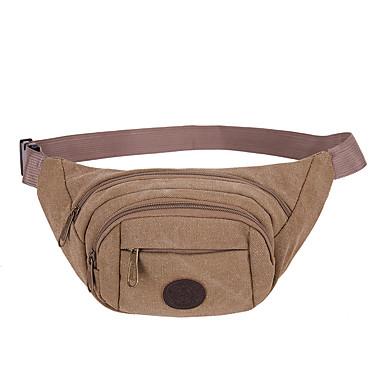 حقيبة الخصر مضاعف مريح إلى كنفا لون الصلبة للرجال للمرأة ركض الخارج