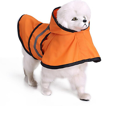 Katze Hund Regenmantel Hundekleidung Solide Orange Blau Terylen Kostüm Für Haustiere Sommer Herrn Damen Lässig / Alltäglich Wasserdicht