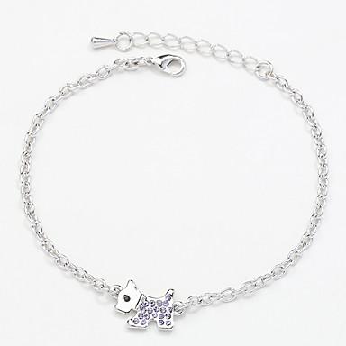 Dames Armbanden met ketting en sluiting Sieraden Vintage Natuur Met de Hand Gemaakt Modieus Strass Legering Strikvorm Sieraden Voor