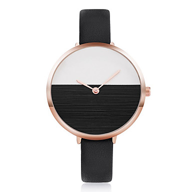 للمرأة ساعات فاشن ساعة المعصم ساعة كاجوال صيني كوارتز PU فرقة كاجوال كوول أنيقة أسود الأبيض أزرق